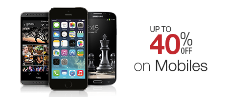 Buy Mobiles on amazon and get 40% discount only for today