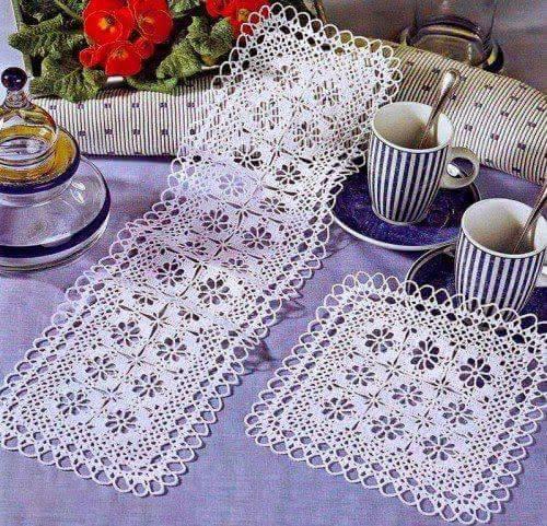 Patrón #1774: Camino de mesa a Crochet