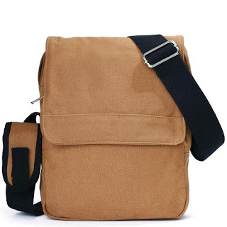 Eshow Men's Small Canvas Briefcase Cross Body Messenger Shoulder Casual Bags £10.99