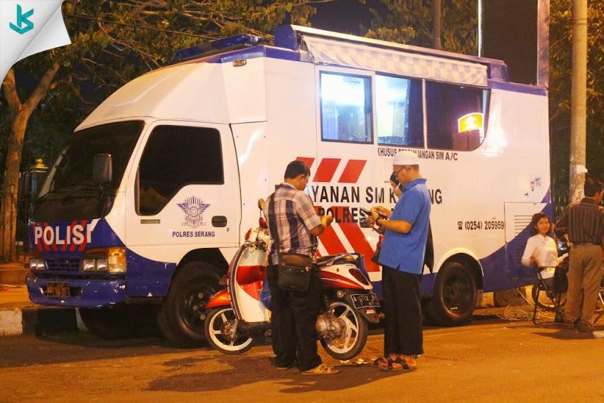 Pelayanan SIM Keliling Online Bagi Masyarakat Kota Serang dan Sekitarnya