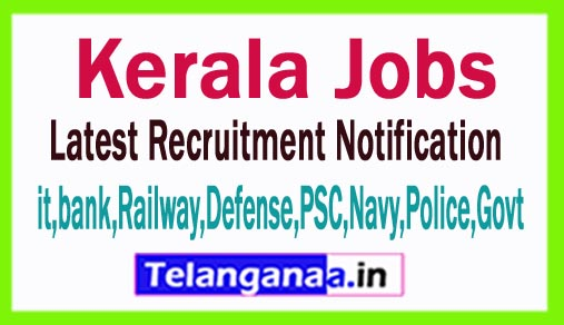 Latest Kerala Government Job Notifications