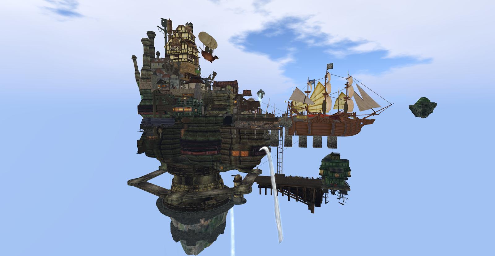 JPK Airship Pirates Port Town