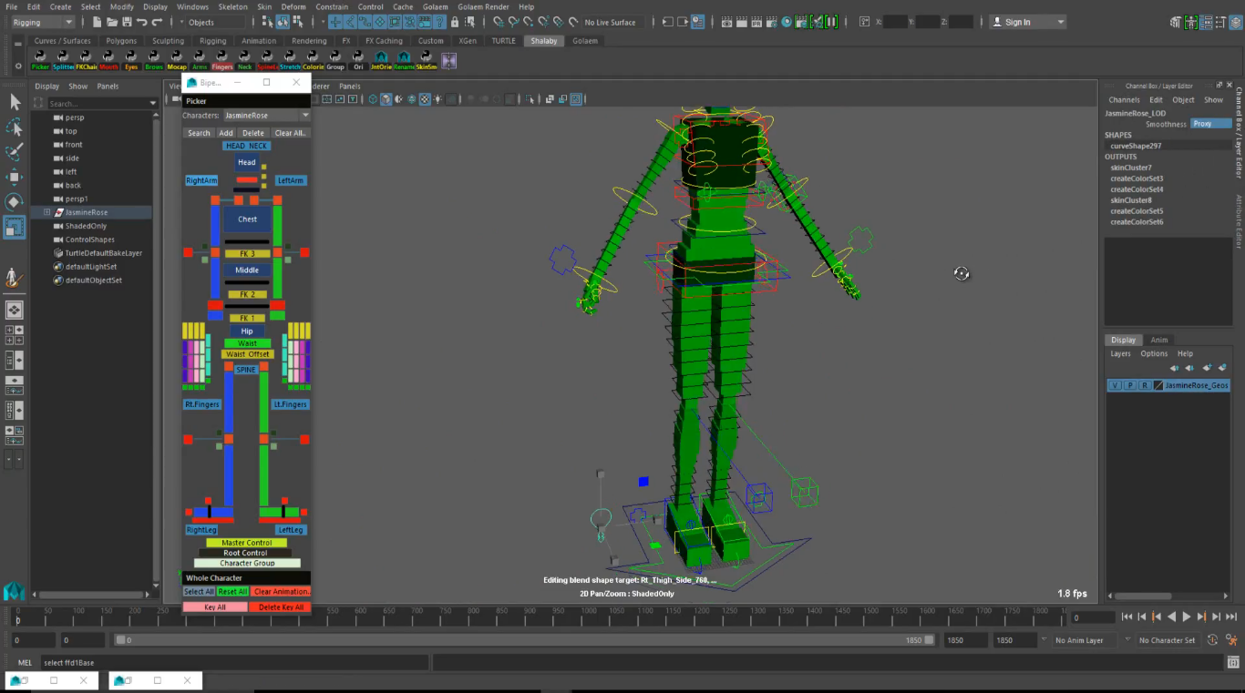 JasmineRose - Character Rigging Tutorial for Maya | CG TUTORIAL