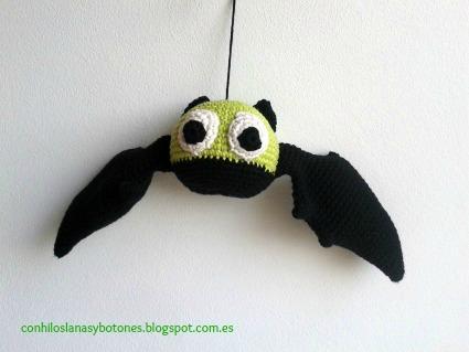 conhiloslanasybotones - murciélago amigurumi