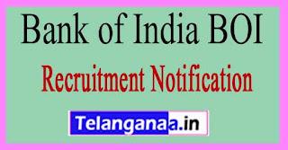 Bank of India BOI Recruitment Notification 2017