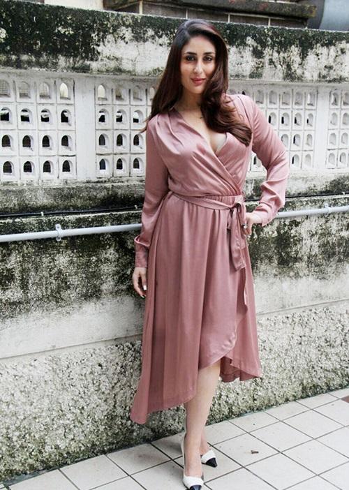Kareena Kapoor Khan Photoshoot In Pink Satin Dress -6574