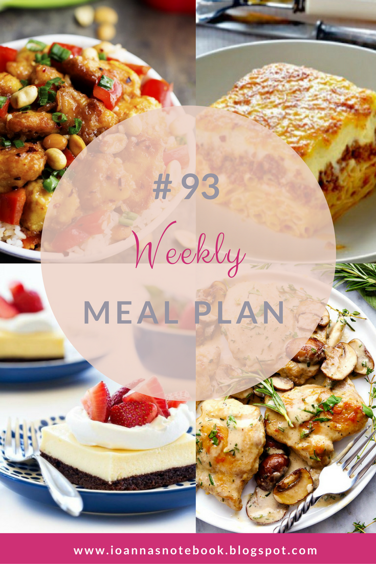 Weekly Meal Plan #93: Delicious recipes to help you plan out your week! - Ioanna's Notebook