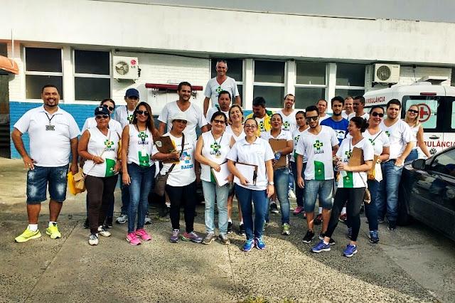 """Iguape participa da  """"Campanha Estadual Todos Juntos  Contra  a  Dengue""""."""