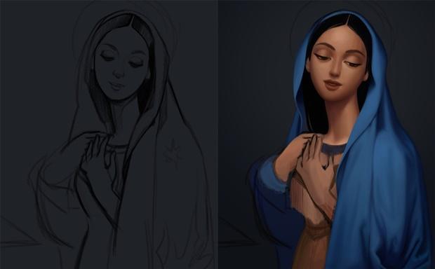 Princesas Disney em pinturas clássicas, Jessica Oyhenart, Disney, Ingres, Pocahontas