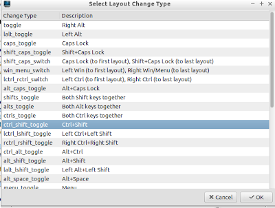 How to configure keyboard layouts in LXDE, Enlightenment