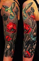 tatuaje cu maci color