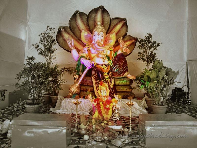 Ganesha in Vighnaraja avatar, Ganesh Chaturthi Festival Mumbai Pandal Hopping