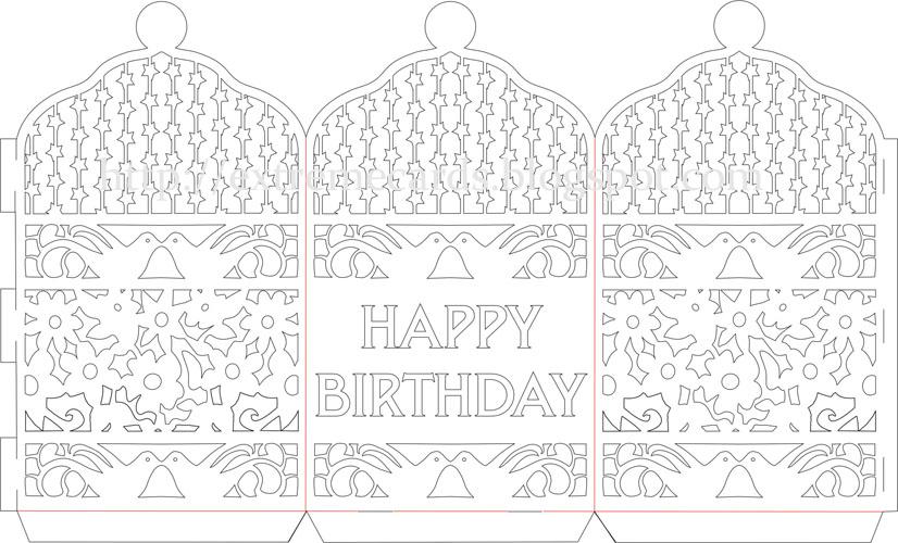 Happy Birthday Paper Cut Lantern Tutorial