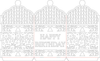 paper cut birthday lantern