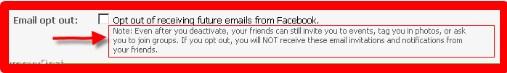 deactivate facebook account link