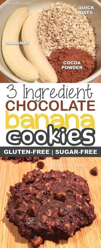 3 Ingredient Healthy Chocolate Cookie Recipe (the perfect guilt-free snack) - Healthy Recipes