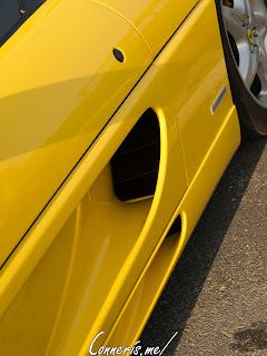 Yellow Ferrari F355 side scoops