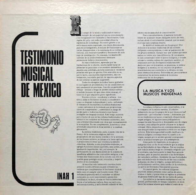 Mexico Mexican traditional music Música Tradicional Mexicana Indian ritual violin mestiza indigenous vinyl