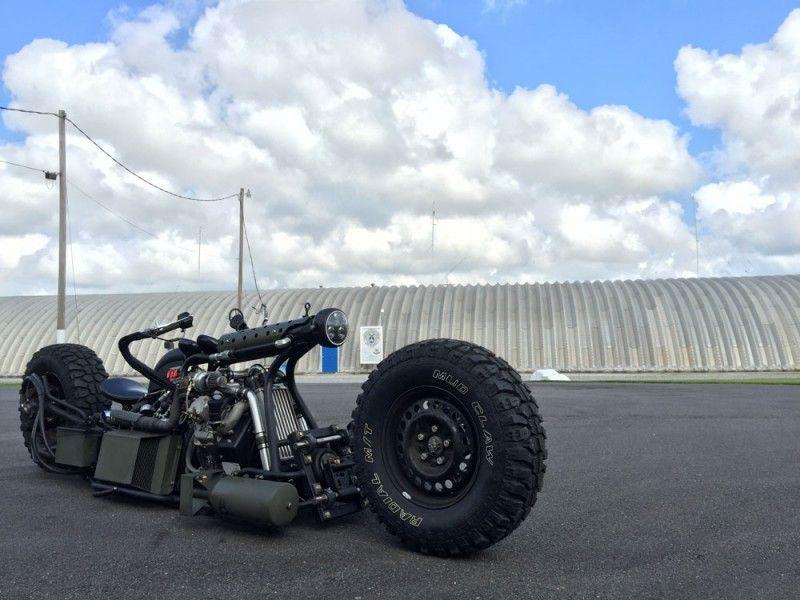 Twin Turbo all-wheel drive motorcycle