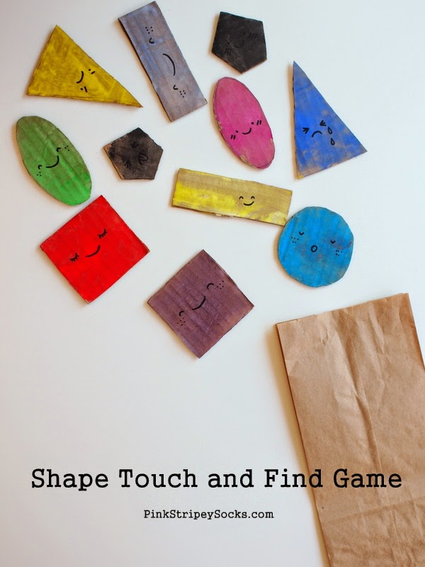 Shape Touch and Find Game:  A great way to teach shapes and math to little kids