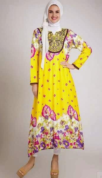 Desain baju hamil muslim penuh warna yang menarik