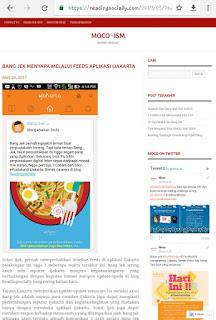 Icon bang Jek dan info aktivitas seru di blog dan twitter.