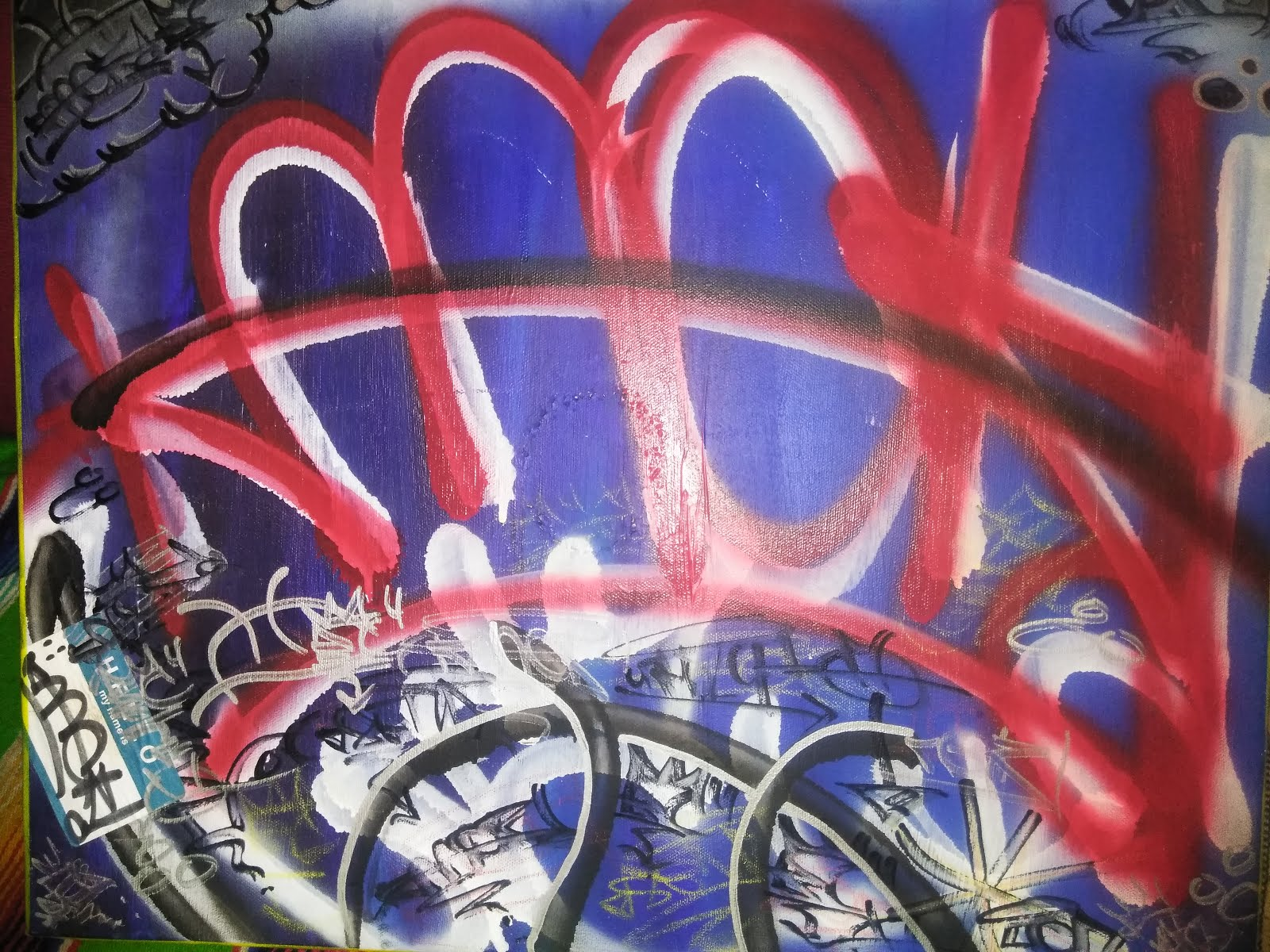 "FTWDIY OG Art ""KNACK"" Graffiti on canvas"