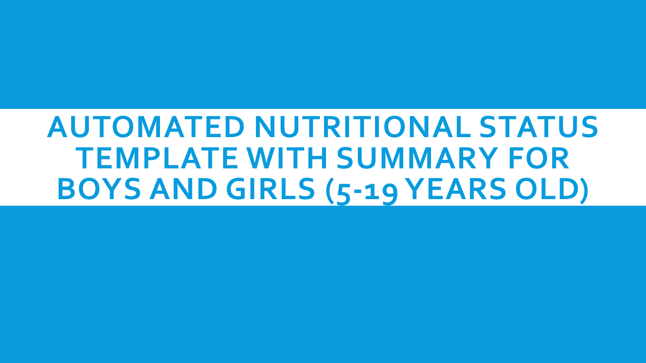 nutritional template