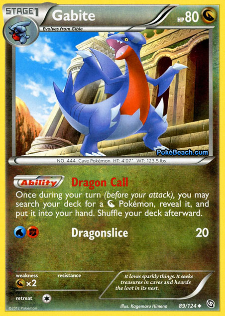 Gabite #89/124 -- Dragons Exalted Pokemon Card Review ...