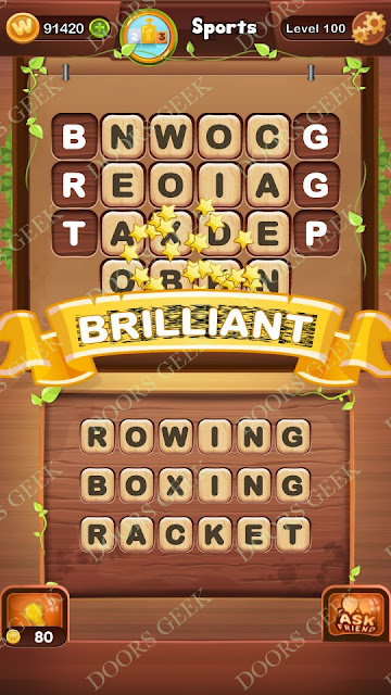 Word Bright Level 100 Answers, Cheats, Solutions, Walkthrough for android, iphone, ipad and ipod