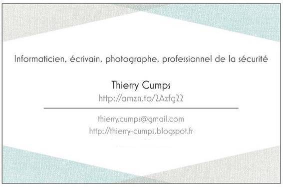 Thierry Cumps - carte de visite