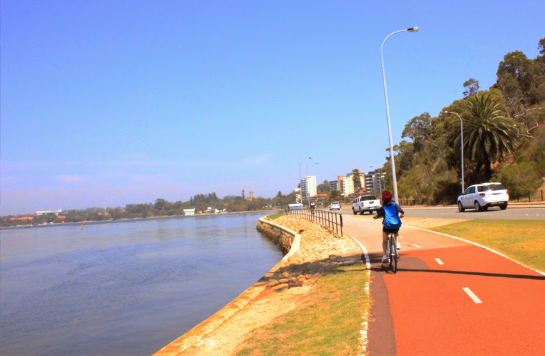Day Cycling Along Swan River