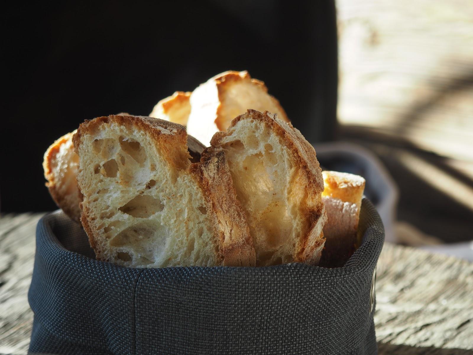 bread basket, La Baraque interior in Val d'isere, France