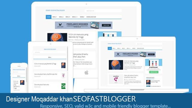 Seofast Blogger Responsive SEO Friendly Template