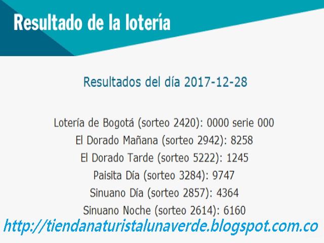 Como jugo la lotería anoche | Resultados diarios de la lotería y el chance | resultados del dia 28-12-2017