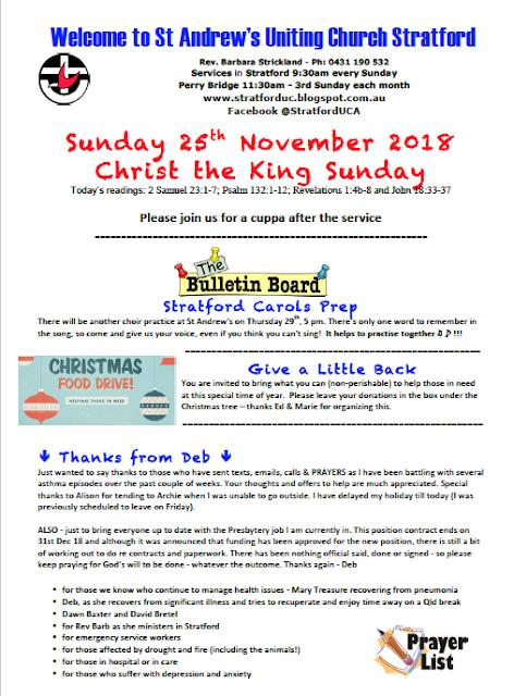 Stratford Uniting Church: Church Newsletter