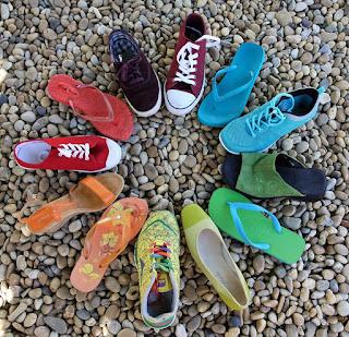 LGBT レインボー 靴