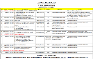 Jadwal PSPP Penerbangan Juni 2017 kampus Makassar