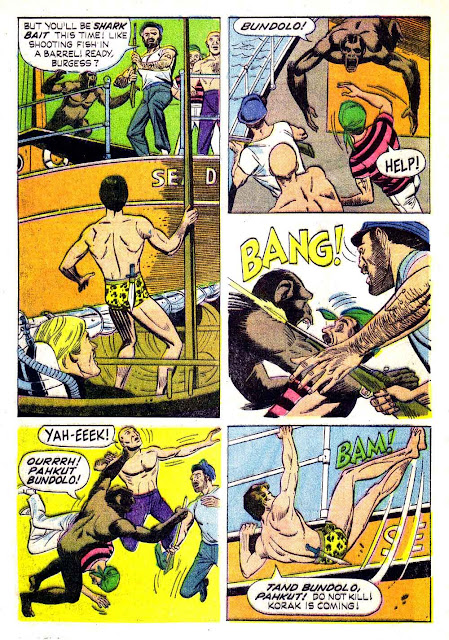 Korak Son of Tarzan v1 #6 gold key silver age 1960s comic book page art by Russ Manning