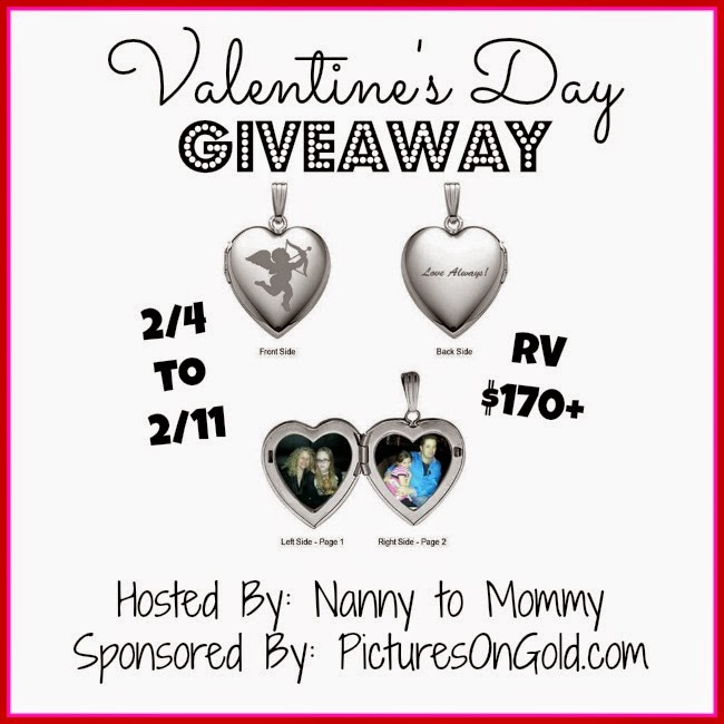Enter the Valentine's Day PicturesOnGold Giveaway. Ends 2/11.
