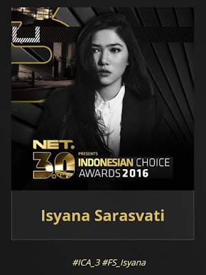 Isyana Sarasvati Bawa Pulang Dua Piala Indonesian Choice Awards 2016