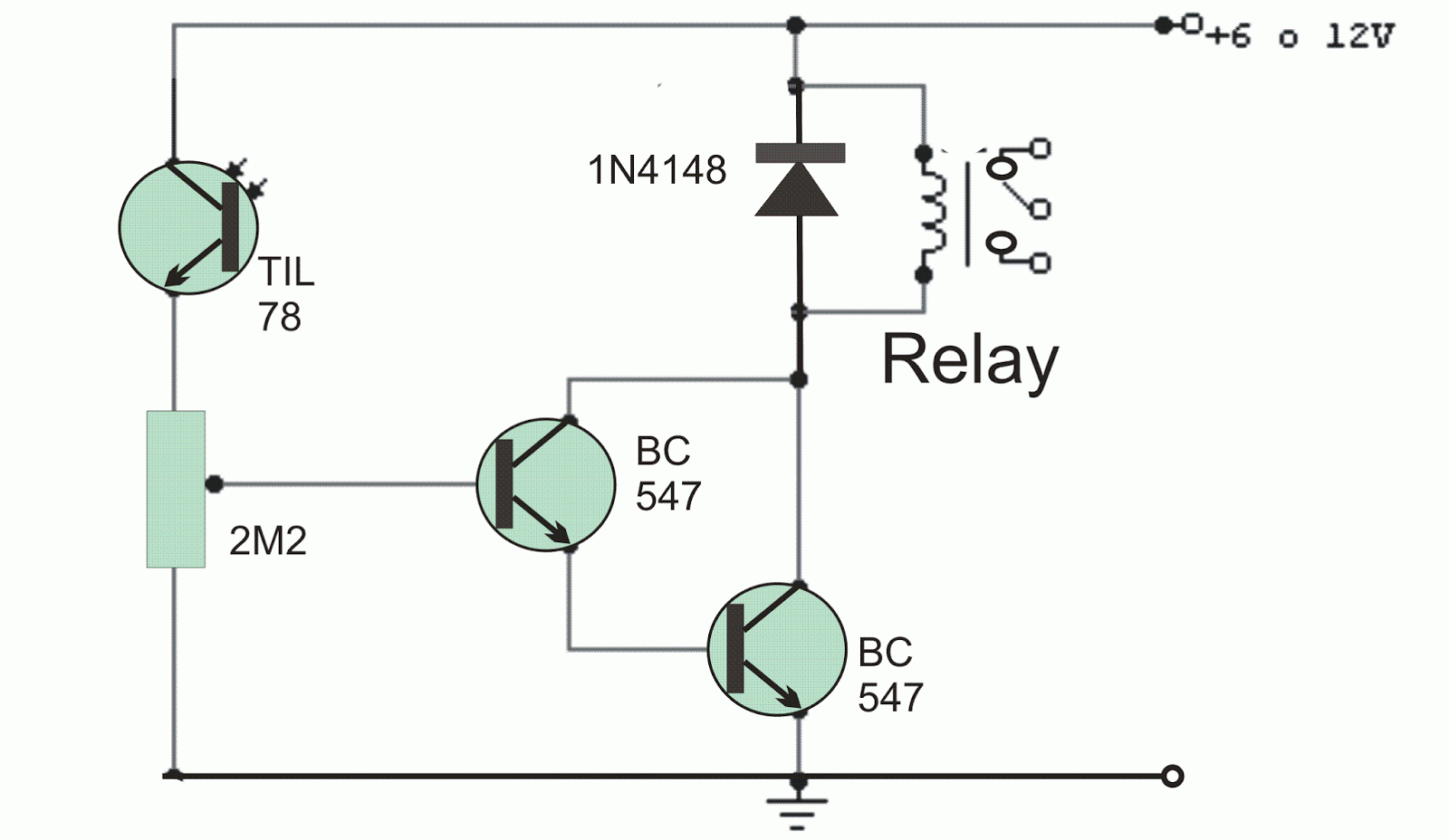 Light Operated Relay Circuit