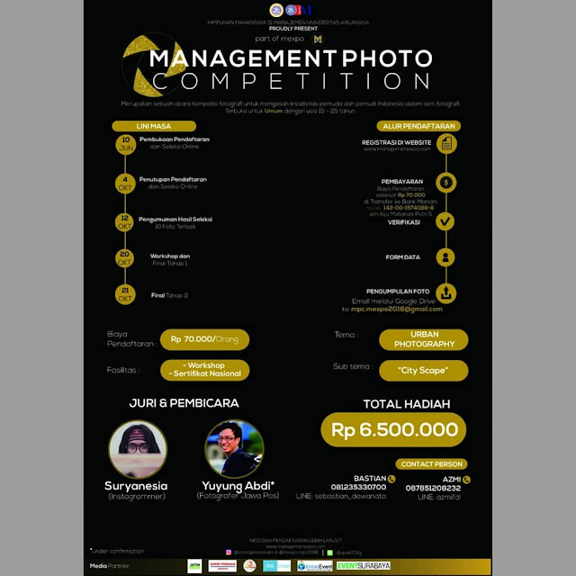 Contest Management Photo Competition 2018 di Jawa Timur