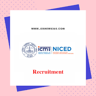 NICED Kolkata Walk-IN 2019 for SRF posts