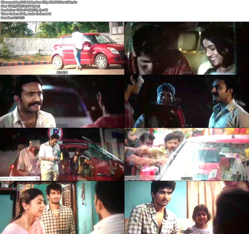 Ishq 2019 Malayalam 720p HQ DVDScr x264 | 480p 300MB | 100MB HEVC Screenshot