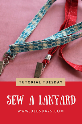 Homemade Fabric Lanyard Sewing Project