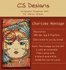 Arty Montage Digital Stamp Design