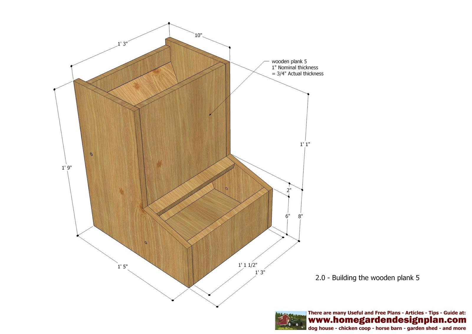 Decimal House Home Garden Plans Cf100 Automatic Chicken Feeder Plans