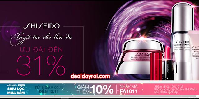 deal đây rồi, deal khuyến mãi, a đây rồi, mỹ phẩm shiseido