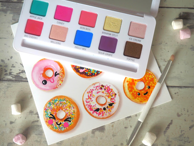 pastel colourful bright palette models own sweet dreams flat lay